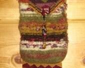 Hand Made Felted Beaded Autumn Mesa Bag