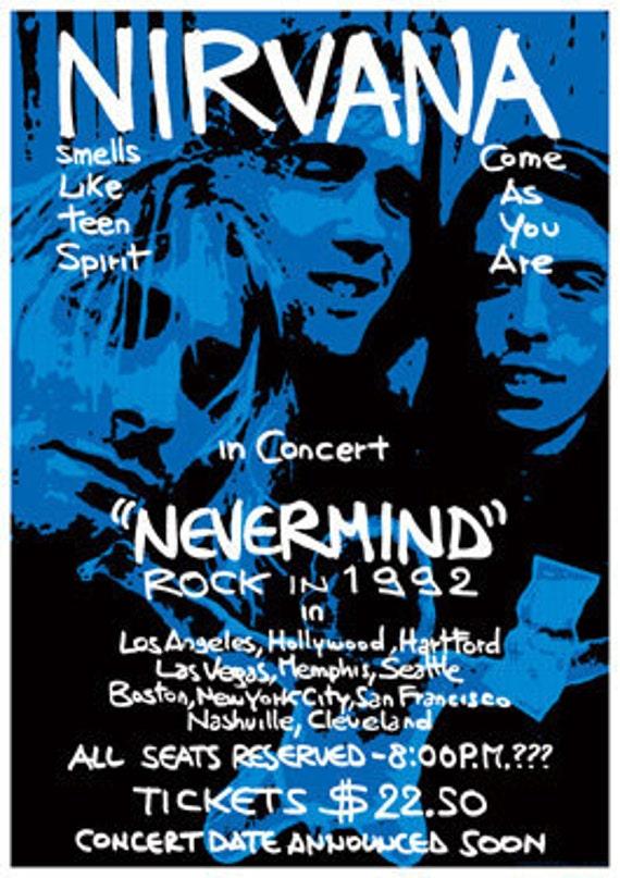 NIRVANA Kurt Cobain 1992 Nevermind Tour retro by tarlotoys