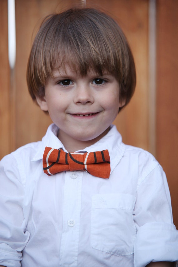 Orange Geometric Bow-Tie for Boys