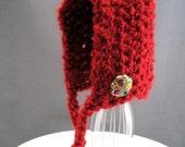 Red Newborn Pixie Hat - Photography Prop