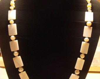 Mother of Pearl / Fresh Water Pearl Necklace
