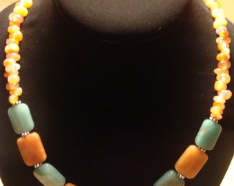 Aventurine / Carnelian Necklace