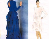 1997 Carolina Herrera Vogue American Designer, Dress in 2 lengths, Sizes 12, 14, 16, Uncut