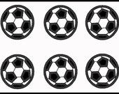 Set Of 2, 6 and 8 Mini Soccer Balls Applique Design For Embroidery Machines- Instant Dowload
