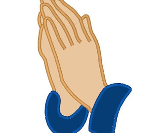 Praying Hands Prayer Digitized Applique Design For Embroidery Machines- Instant Download