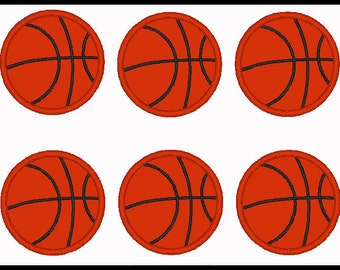 Set Of 2 6 and 8 Mini Basketballs - Sport - DIY Applique Design For Embroidery Machines - Instant Download