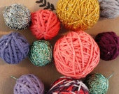 """New Year's Eve Collection """"A little bit of a Wild Child""""-yarn ball garland"""