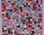 No. 10, Fractured Four-Patch (Copyrighted), Vintage Valentine Quilt, 400 Pieces