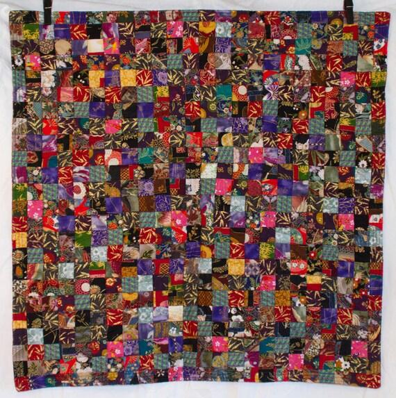 SPECIAL SALE: No. 27, Postage Stamp Quilt, Asian Cloisonne, 576 Pieces,