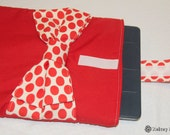 ipad cover - big red polka dot bow on a red ipad sleeve/mini mouse :)