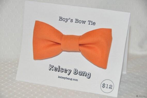 boys easy clip on bow tie - orange