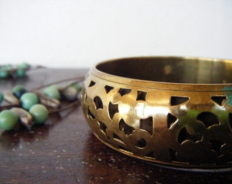 SALE-Vintage Indian Ornamental Bangle Bracelette