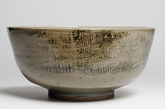 Serving Bowl with Burnham's Plan of Chicago, 1909