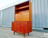 Mid Century Modern Danish Ib Kofod Larsen Teak Bookcase