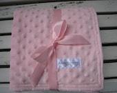 Baby Pink Minky Stroller Snuggle Blanket