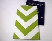 Chevron Passport Cover green chevron passport case wallet