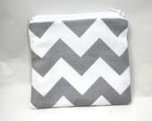 Chevron change purse gray chevron zipper pouch wallet grey