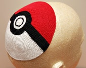 Pokemon Pokeball Crocheted Kippah / Yarmulke