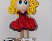 Custom made Doll . Reserved for Jaclyn Guarcello