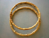 """Large Pair 10"""" Natural BAMBOO HANDLES...Exceptional Quality"""