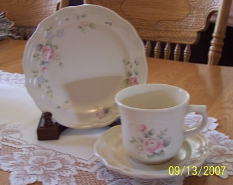 "Pfaltzgraff TEA ROSE Coffee Cup & Saucer or 7"" Bread/Butter Plate"