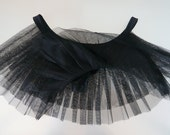 Thongs with pleated tulle skirt