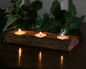 Red Cedar Fence Post Candle Holder - Rustic Cabin Decor - Reclaimed Wood