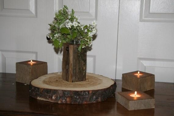 Reclaimed Fence Post - Cedar Flower Vase - Rustic Cabin Decor