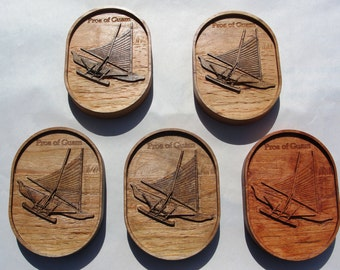 Guam Proa Carving on Cherry Wood