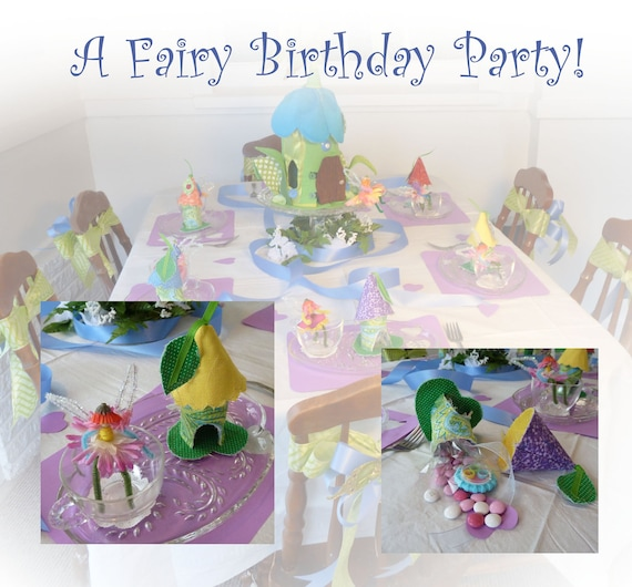 Fairy House Birthday Party kit for 6