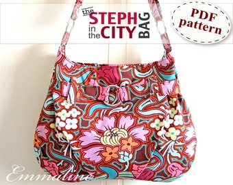 Steph In The City Bag PDF Purse Pattern - Handbag, Shoulder Bag, Hobo Bag Pattern