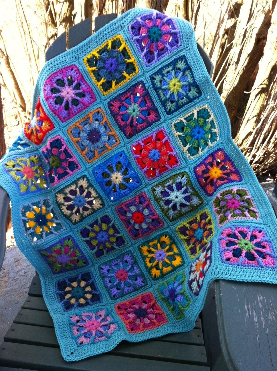 Crocheted BABY afghan baby blanket by CrochetKaleidoscope ...