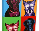 "Custom Pet Portrait Pop Art - Gallery Wrapped Canvas- 11 x 14"""