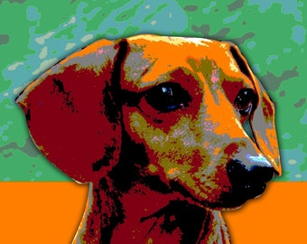 Custom Pet Portrait Pop Art - 13 x 19""