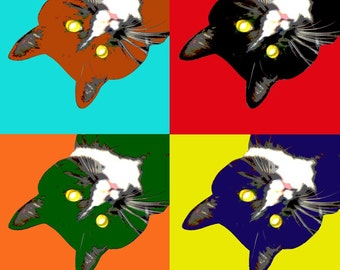 "Custom Pet Portrait Pop Art - 8.5 x 11"""