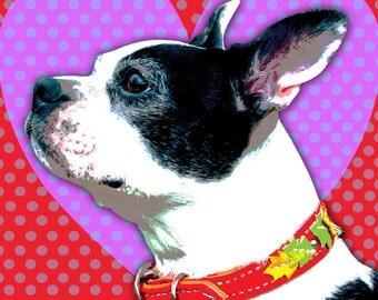 "Custom Pet Portrait Pop Art- 8.5 x 11"""