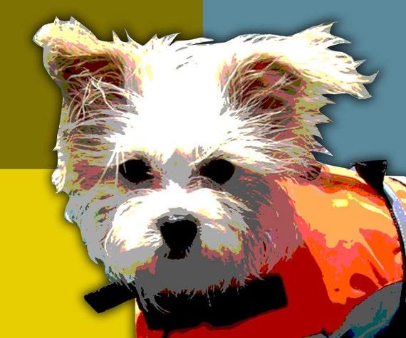 "Custom Pet Portrait Pop Art - 11 x 14"""