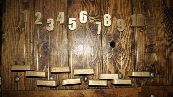 Wooden Table Numbers Handmade