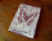 notebook, diary, journal, with batik, butterfly