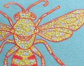 Striking Bee Cushion