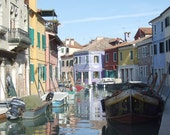 Set of 5 Blank Photo Note Cards  Burano, Italy