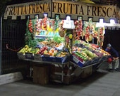 Set of 5 Blank Photo Note Cards Fruit Cart in Rome, Italy