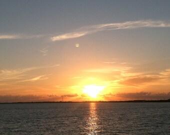 Set of 5 Blank Photo Note Cards  Florida Keys Sunset on Islamorada