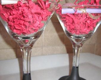 Chalkboard Martini Glasses - Set of 4
