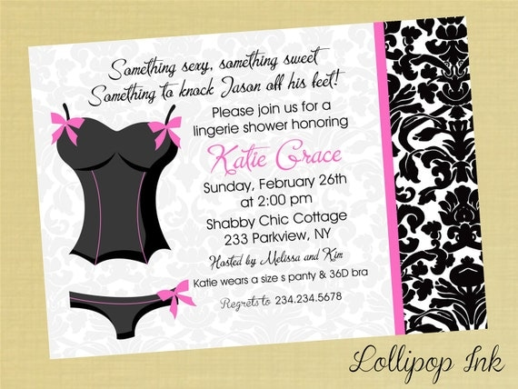 Lingerie Party Invitations Wording 25