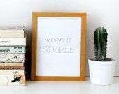 Letterpress Print: Keep it Simple