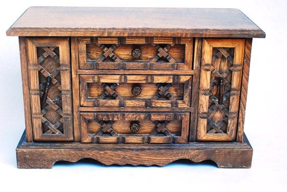 Vintage Jewelry Cabinet Box