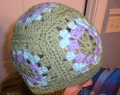 Granny Square Hat - Crochet - Custom Made