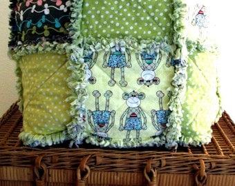 Rag Blanket for Baby or Child - MonkeyShines