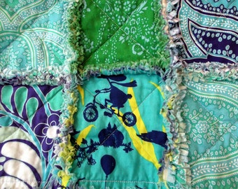 Rag Blanket for Children - Fanciful Creatures